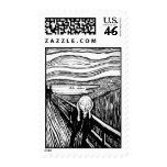 The Scream by Edvard Munch Stamp