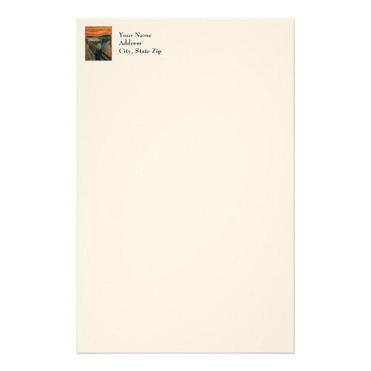 The Scream by Edvard Munch Stationery
