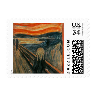 The scream by Edvard Munch,symbolist painter Postage Stamp