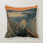 The Scream by Edvard Munch Throw Pillows