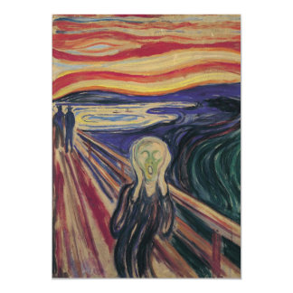 The Scream by Edvard Munch, Vintage Expressionism Personalized Invitation