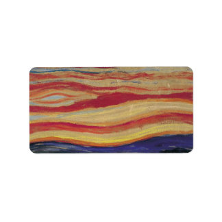 The Scream by Edvard Munch, Vintage Expressionism Address Label