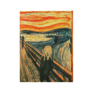 The Scream by Edvard Munch Wood Poster