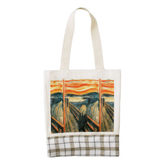 The Scream by Edvard Munch Zazzle HEART Tote Bag