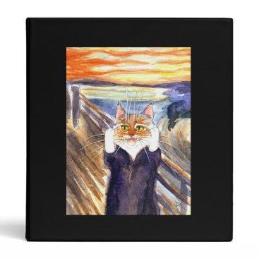 sunshinesketches The Scream cat Binder