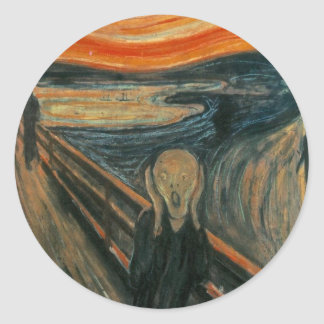 The Scream Classic Round Sticker