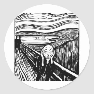 The Scream Classic Round Sticker