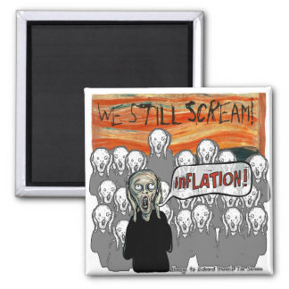 The Scream Current Themes 2 Inch Square Magnet