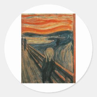 The Scream - Edvard Munch 1893 Classic Round Sticker