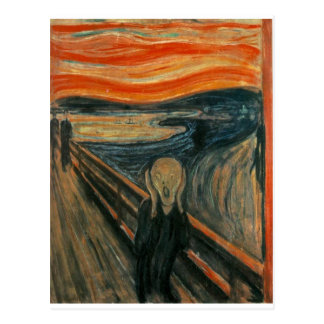 The Scream - Edvard Munch 1893 Postcard