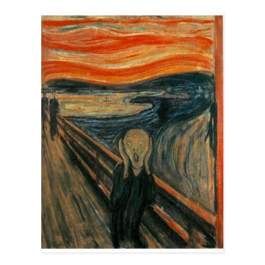 The Scream - Edvard Munch 1893 Postcard | Zazzle