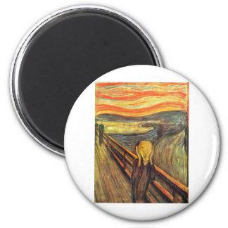 The Scream - Edvard Munch 2 Inch Round Magnet
