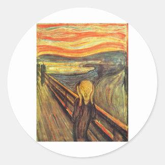 The Scream - Edvard Munch Classic Round Sticker