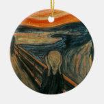 The Scream - Edvard Munch Double-Sided Ceramic Round Christmas Ornament