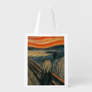 The Scream - Edvard Munch Grocery Bag