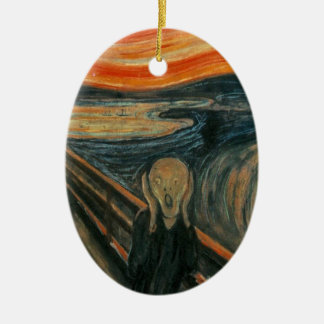 The Scream - Edvard Munch. Painting Artwork. Ceramic Ornament