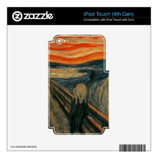 The Scream - Edvard Munch. Painting Artwork. Skins For iPod Touch 4G