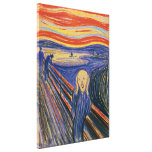 The Scream Edvard Munch (pastel 1895) High Quality Stretched Canvas Print