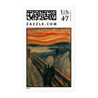 The Scream - Edvard Munch Postage Stamp