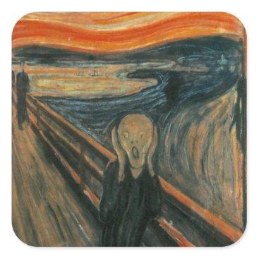 masterpiece_museum The Scream - Edvard Munch Square Sticker