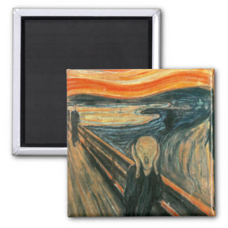 The Scream Edward Munch Screaming 2 Inch Square Magnet