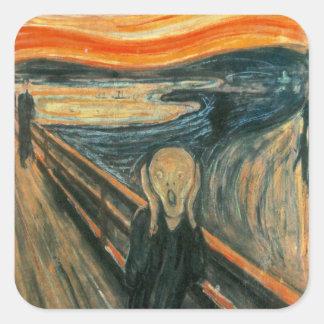 The Scream Edward Munch Screaming Square Sticker