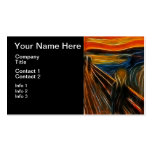 The Scream Fractal Painting Edvard Munch Business Card Template