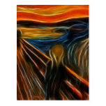 The Scream Fractal Painting Edvard Munch Postcards