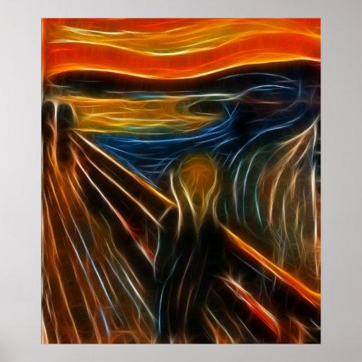 The Scream Fractal Painting Edvard Munch Print