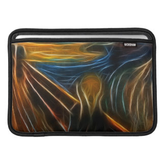 The Scream Fractal Painting Edvard Munch Sleeve For MacBook Air