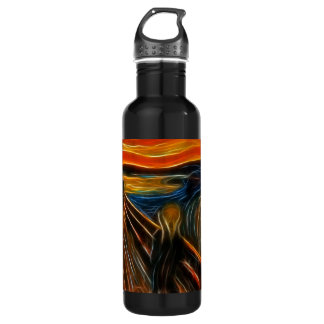 The Scream Fractal Painting Edvard Munch Stainless Steel Water Bottle