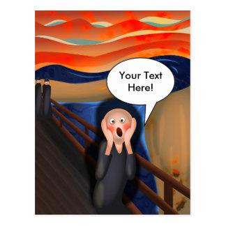 The Scream Fun Cartoon Parody Postcards