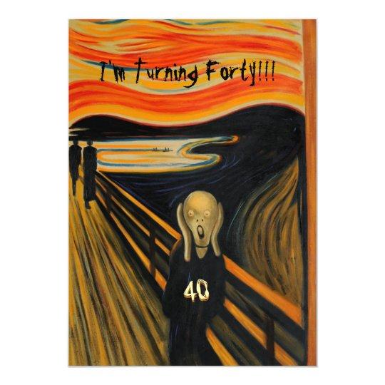 the scream funny 40th birthday invitation zazzle com