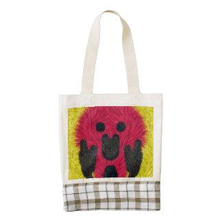 The Scream furry person Zazzle HEART Tote Bag