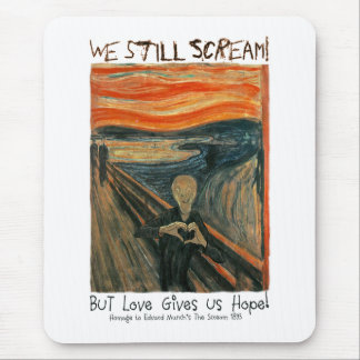 The Scream Heart Hands Mouse Pad