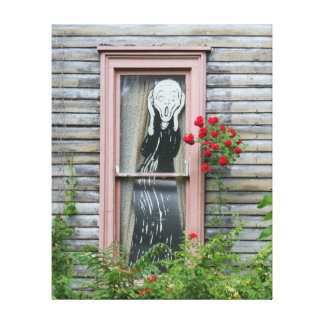 The Scream in a Window Canvas Print