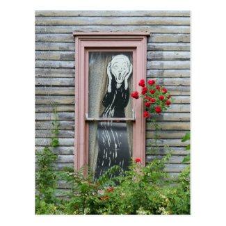 The Scream in a Window Postcard