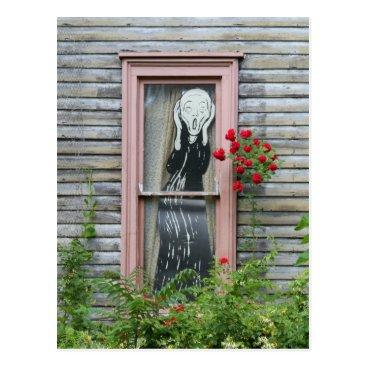 catherinesherman The Scream in a Window Postcard