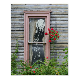 The Scream in a Window Poster