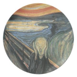The Scream Melamine Plate