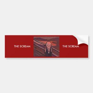 THE SCREAM MY VERSION CAR BUMPER STICKER