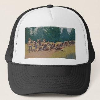 The Scream of Shrapnel at San Juan Hill Frederic Trucker Hat