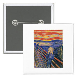 The Scream (pastel 1895) High Quality Pinback Button