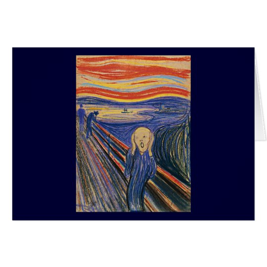 The Scream (pastel 1895) High Quality Card