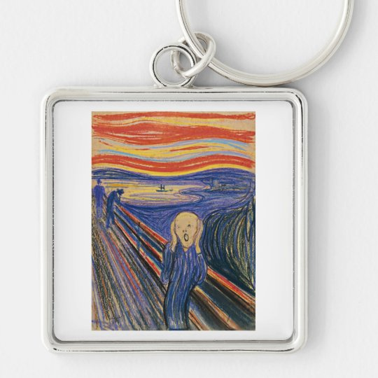 The Scream (pastel 1895) High Quality Keychain