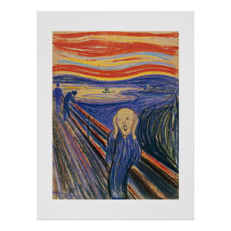 The Scream (pastel 1895) High Quality - Large Poster