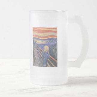 The Scream (pastel 1895) High Quality 16 Oz Frosted Glass Beer Mug