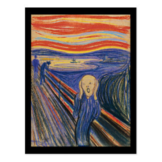 The Scream (pastel 1895) High Quality Postcard