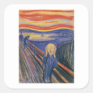 The Scream (pastel 1895) High Quality Square Sticker