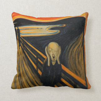 The Scream Throw Pillows